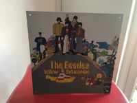 Beatle yellow submarine wall sign