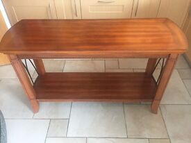 Walnut solid wood Console Table and Side Table