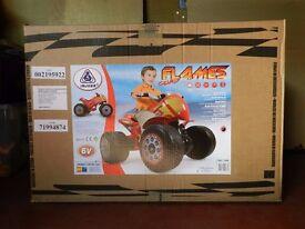 Injusa FLAMES QUAD BIKE 6v - Still brand new in box