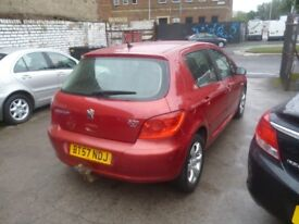 Peugeot 307 S HDI,1560 cc 5 door hatchback,A/C,Alloys,CD/Radio,Tow bar fitted,new clutch,great mpg
