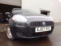 💥07 FIAT GRANDE PUNTO 1.2,5 DOOR,BLACK METALLIC,MOT SEPT 017,2 OWNERS, LOW MILEAGE,STUNNING CAR