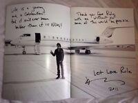 Lenny Kravitz Live Black and White America Concert Tour Programme Book Signed