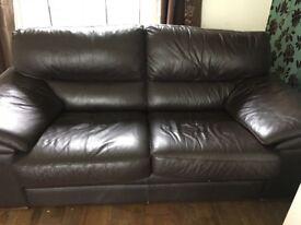 X 2 brown sofas
