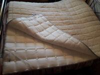 SALE! Super king mattress topper Magniflex 3 in 1 All Seasons Merino Wool Blend / free delivery