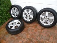 4 Mazda alloy wheels with tyres 195/65r15