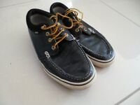 Vans blue leather Mens lace up size 10