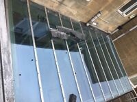 Toughen glass roof free to collect already stopped ready to go