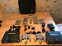 N64 consoles, games and extras