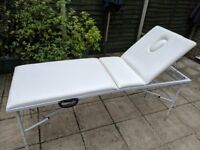 Massage Table - White - Mercia Collection Adjustable Height with Face cut-out - Excellent Condition