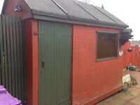 Large garden hut