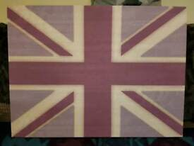 Purple shades Union Jack canvas