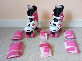 Osprey Girls Roller Skates + Protection Pads