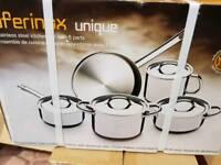 Stainless pans set 5pcs.