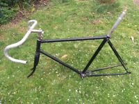 Original Claud Butler track racer frame and parts c1950