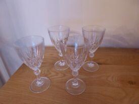 CATHEDRAL CRYSTAL ITALIAN 24% LEAD CRYSTAL GALA WINE GLASSES