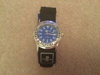 Men's / boys Predator Watch with blue dial and blue velco strap BNWOT