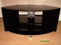 Top of the range black glass tv unit. excellent condition. £30
