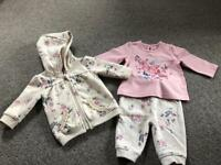 3 piece outfit, baby girl, 0-3, George at Asda