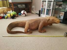 3foot wooden komodo dragon