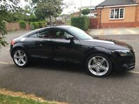 Black Audi TT FSI 2.0 coupe, years not from end of July, red leather seats, sat nav, 5 Cd changer.