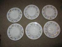 Royal Worcester 'Blue Poppy' Soup Plates x 6