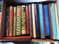 Collection of various Folio society books.