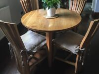 Dining Table + 4 Chairs   Solid Wood   Handmade