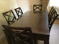 Willis and gambier dining room table and chairs