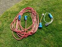 25mtr approx. Caravan hook up cable plus extensions.