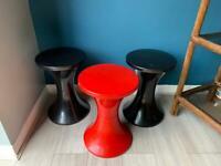 Trio of retro Habitat Tam Tam stools