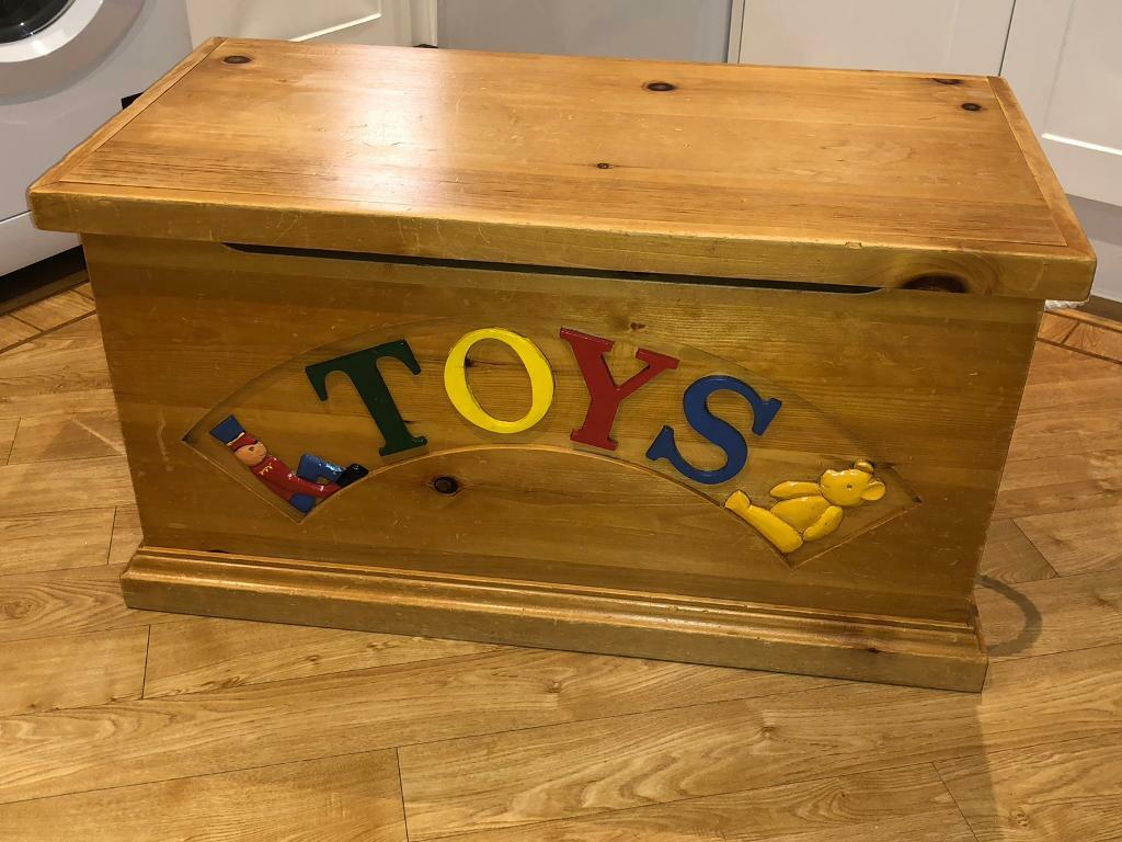 Old Fashioned Wooden Toy Chest