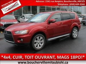 2011 Mitsubishi Outlander XLS*CUIR, TOIT OUVRANT, S-AWC*