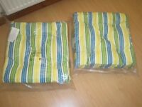 2 x padded cushions for garden chairs