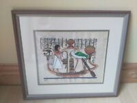 Framed Picture Egypt Hanging Wall Decor Art