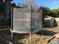 8ft Skyhigh Plus trampoline with safety enclosure