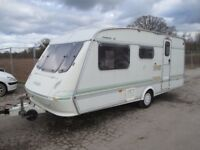 ELDDIS TYPHOON XL 3/4 BERTH TOURING CARAVAN LIGHTWEIGHT EASY TO TOW CARAVAN WITH FULL AWNING,