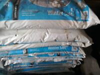 Salt and grit ready for the next lot of snow