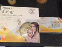 Medela swing electric pump used twice + extras