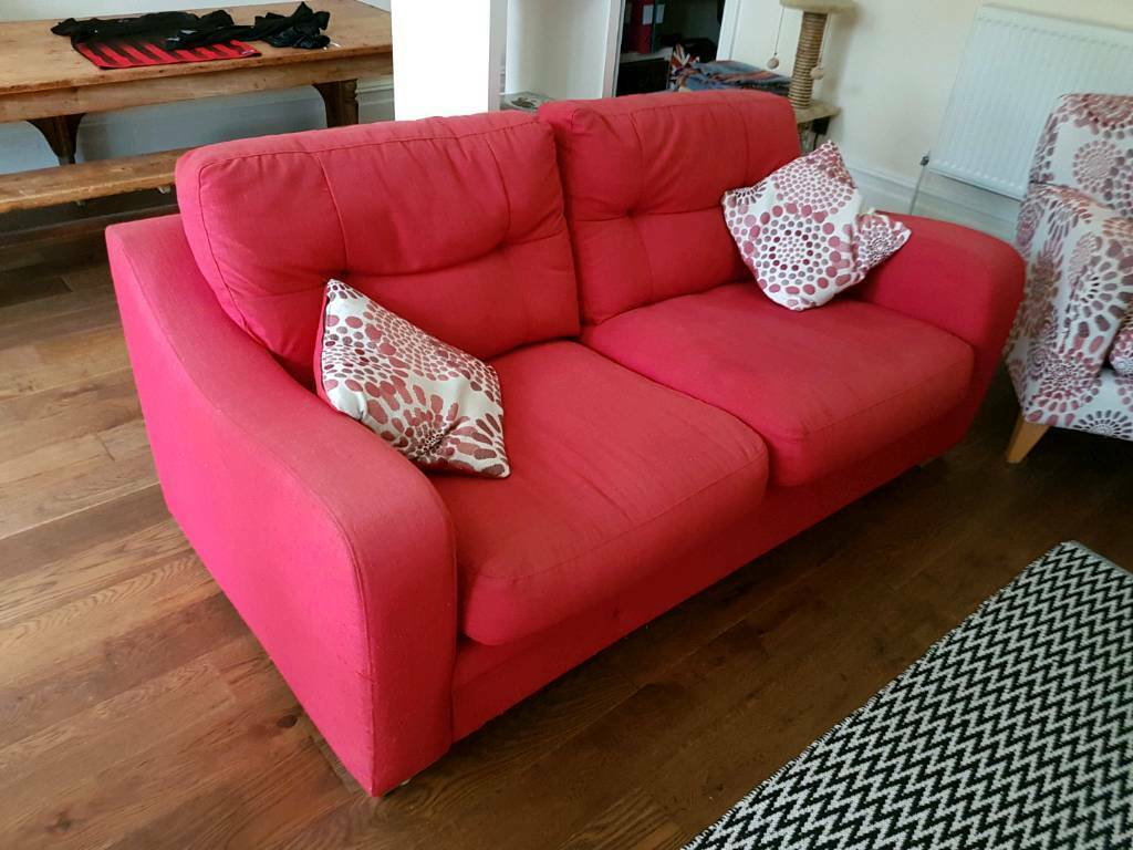 Red Harvey's sofa