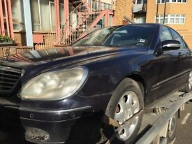 02 MERCEDES S320 BOTH SIDE LEFT DOOR AND DRIVE SIDE BACK DOOR AVALIABLE