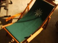 THREE DECKCHAIRS AS NEW