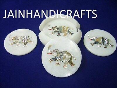Подставки Marvelous Marble Lapis elephant Inlay