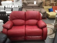 RECLINER LEATHER SOFA SET - BRAND NEW STOCK - BLACK & BROWN - FABRIC SUITES AVAILABLE - DELIVERED