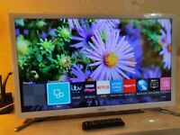 White Samsung 32 inch Smart TV