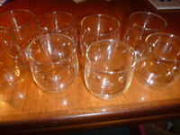 New drinking glasses, so great present. Set of 8. Made in England so great quality.
