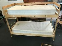 Ikea Bunk Bed with mattresses can deliver, excellent condition, comes with a ladder