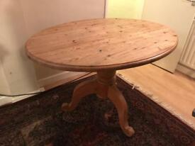 Oval pine kitchen table. Collection only