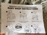 Baby wrap (material sling), in perfect condition