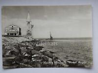 Caorle Venezia Veneto Vecchia Cartolina Chiesa Barca Ak Postcard -  - ebay.it