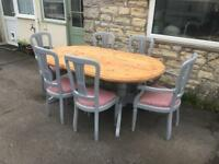 Dining table and 6 chairs (free local delivery)